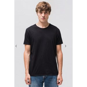 "NUDIEJEANS T-Shirt ""Anders"" black"