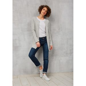 "RECOLUTION ""Sweat Cardigan"" grey melange"