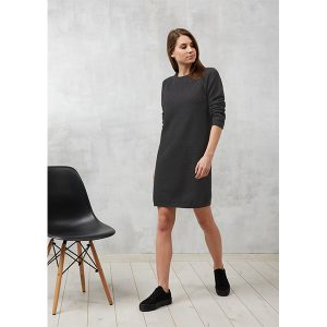 "RECOLUTION Knitted Dress ""Points"" anthrazit melange"