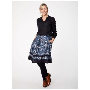 "THOUGHT Bluse ""Tolza Jaquard Embroiered Blouse"" dark navy"