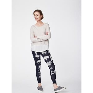 "THOUGHT Leggins ""Elsenore Dip Dye Printed Leggins"" dark navy"