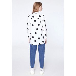 "ARMEDANGELS Bluse ""Irena Big Spots"" white"