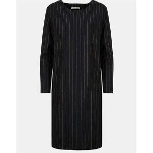 "FRIEDA SAND Dress ""Philine"" black pinstriped"