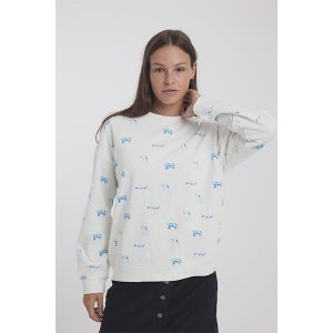 "THINKING MU Sweatshirt ""Antartic Animals Fundrawings"""