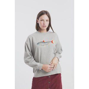 "THINKING MU Sweatshirt ""Jersey Sad Fisch Villana Art"""