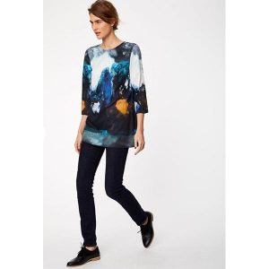 "THOUGHT Tunika ""Falkirk Tencel Printed Tunic Dress"" kingfisher"