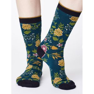"THOUGHT Socken ""Garden Floral Print Bamboo Socks"" Größe 36-41"