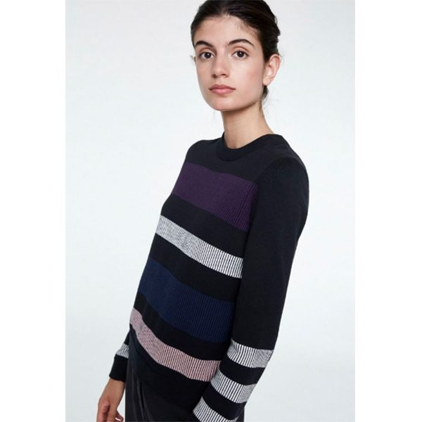 "ARMEDANGELS Pullover ""Oxana Bold Stripes"" black"