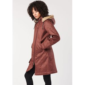 "HOODLAMB Winterjacke ""Ladies' Long HoodLamb Coat"" sepia"