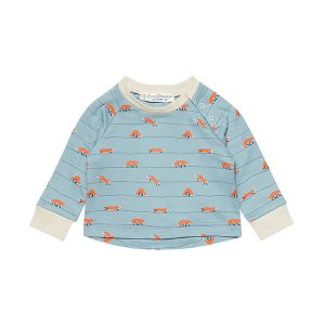 "SENSE ORGANICS Raglan Shirt ""David"" foxes on a line"