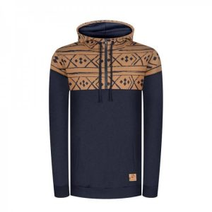 "BLEED Hoodie ""Norwegian Half Zip"" navy"