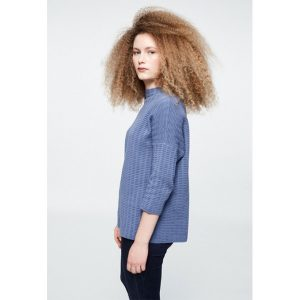 "ARMEDANGELS Pullover ""Fanette Grid"" english blue"