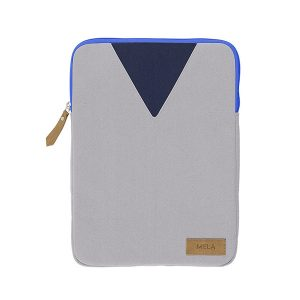 "MELAWEAR Laptop Sleeve 13"" grey/light blue"