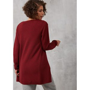 "RECOLUTION Cardigan ""#Rib"" burgundy"