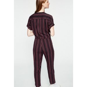 "ARMEDANGELS Jumpsuit ""Aarabella Pair Of Stripes"" black"