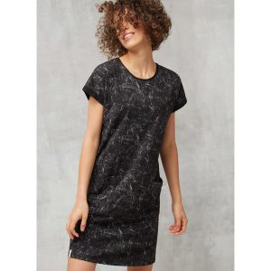 "RECOLUTION Jerseykleid ""Casual Abstract"" black/anthracite"