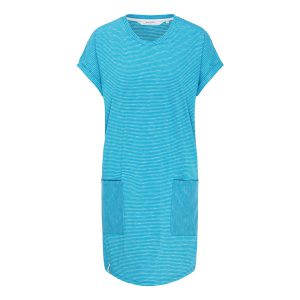 "RECOLUTION Jerseykleid ""Casual #Stripes"" mosaic blue/white"