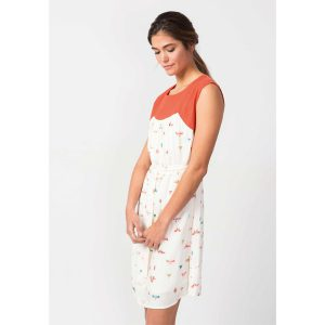 SKFK ethical clothing atasis kleid vanilla