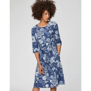 "THOUGHT Kleid ""Kikii Floral Knee Length Dress"" Ocean Blue"
