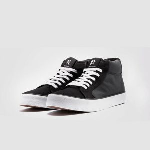 "GREENERGRASS ""Vegan Mid-Cut Sneaker"" Plain, black"
