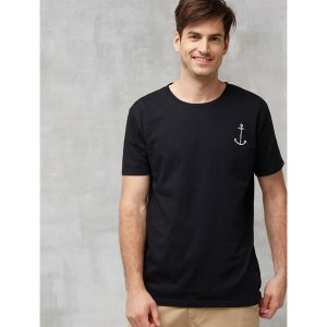 "RECOLUTION Herren T-Shirt Basic ""#Anker"" black"