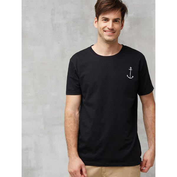 recolution fairtrade t shirt anker black