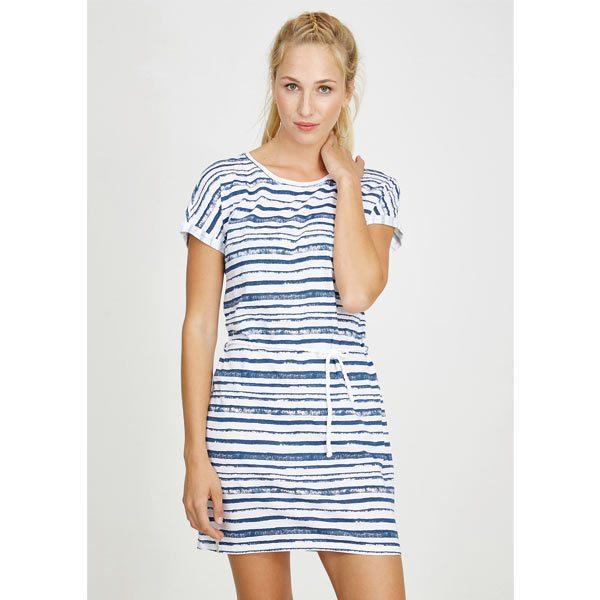 recolution shirtdress turn up stripes