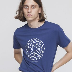 "THINKING MU T-Shirt ""Think Planet Tee"" blue marino"