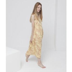 """THINKING MU Kleid """"Yellow Palmeras Angelina Dress"""" yellow"""
