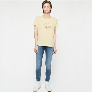 "ARMEDANGELS T-Shirt ""Nelaa Elephant"" vanille"