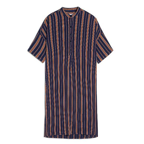 """ARMEDANGELS Kleid """"Maarjuli Multicol Stripes"""" evening blue-maroon"""