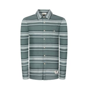 "BLEED ""Striped Flannel Shirt"" green"