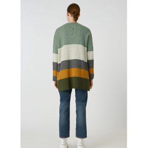 "ARMEDANGELS Cardigan ""Maayumi Block Stripes"" mid grey melange-sandshell"