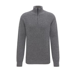 "RECOLUTION Pullover ""Knited Troyer"" anthracite"