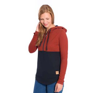 BLEED Mountain Active Tencel Hoodie Ladies red/ navy