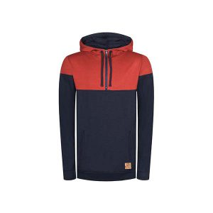 BLEED Mountain Active Tencel Hoodie Men red/navy