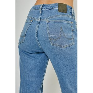 "KUYICHI ""Nora"" Slim High Waiste faded blue"