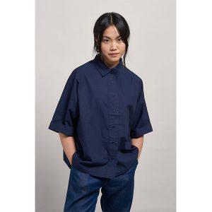 "#KOMODO Shirt ""Kimono"" indigo – tibet print, Gr L"