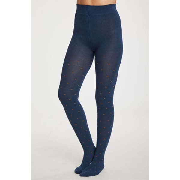 "Thought ""Spot Bamboo Tights""petrol blue"