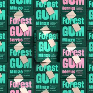 FOREST GUM Kaugummi, 1 Pack Minze oder Wild Berries