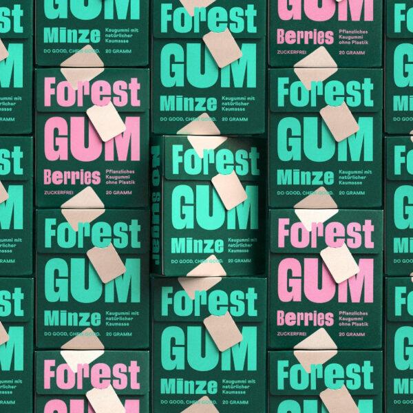 Forest Gum, das ist Kaugummi mit natürlicher Kaumasse.