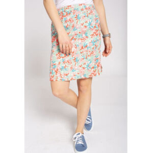 """RECOLUTION Rock """"EcoVero Skirt Camoflower"""" white colored"""