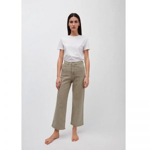 "ARMEDANGELS Jeans ""Nessaa, Wide Leg High Waist Cropped"" sand"