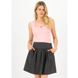 "BLUTSGESCHWISTER Rock ""Logo Woven Skirt casual"" anthracite"
