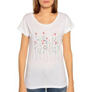 "ARMEDANGELS T-Shirt ""Livaa Flowery"" white"