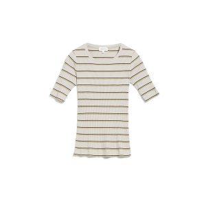 """ARMEDANGELS T-Shirt """"Elsaa Rib Stripe"""" kitt birch leaf"""