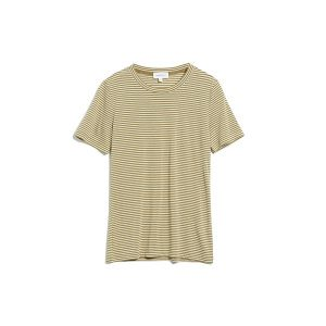 "ARMEDANGELS T-Shirt ""Lidaa Ring Stripes"" golden khaki-pistachio"