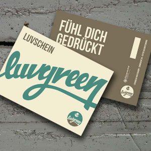 """Luvgreen Gutschein """"Luvschein"""""""