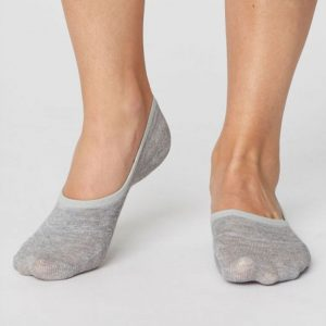 "THOUGHT Damen- Socken ""No Show Bamboo Socks"" mid grey marle, Größe 36- 41"