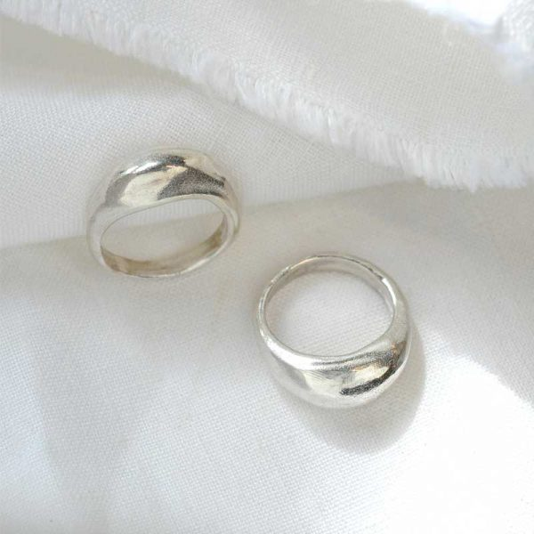 WILD-FAWN-'Chunky-Statement-Ring'-silber